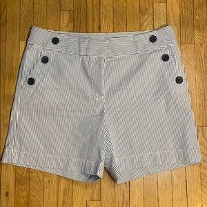 Ann Taylor LOFT sailor striped shorts